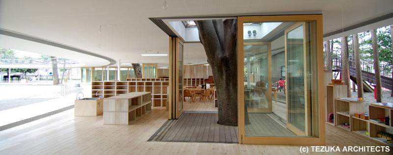 Innovative Preschool Classroom Design ~ Fuji kindergarten tachikawa tokio japón takaharu
