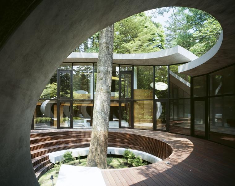 Shell house karuizawa jap n kotaro ide artechnic for Karuizawa architecture