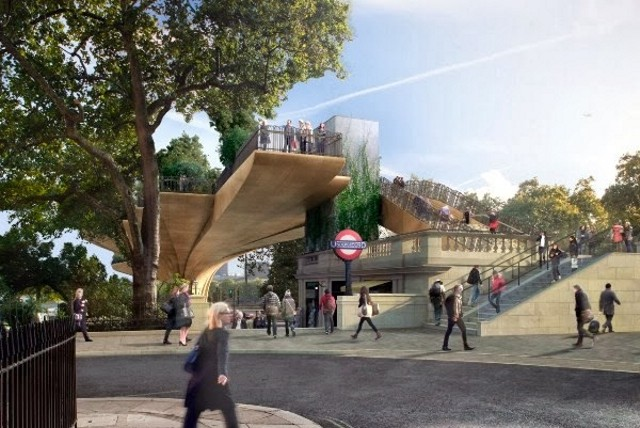 Inglaterra > Heatherwick Studio junto a la firma de ingeniería ARUP y el arquitecto paisajista Dan Pearson desarrollaron el 'Garden Bridge', un puente-jardín sobre el Támesis. Los desarrolladores prevén tener los fondos necesarios (180 millones de euros) para comenzar la construcción en 2014 e inaugurarlo en 2017.. [elmundo.es / The Style Examiner]