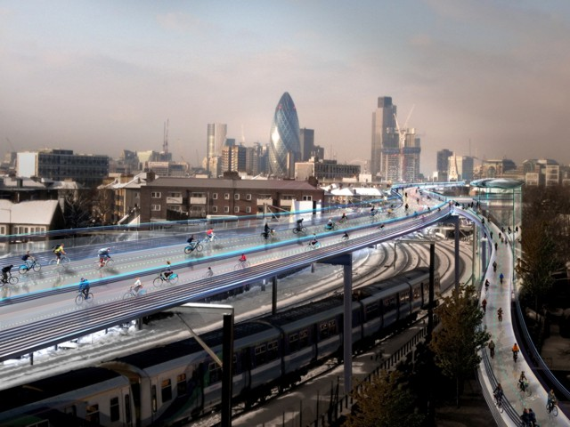 Londres: 'SkyCycle' - Foster + Partners