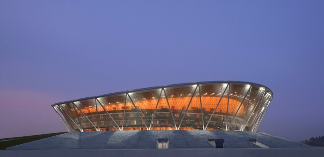 China: Estadio de Basketball en Dongguan - gmp Architekten