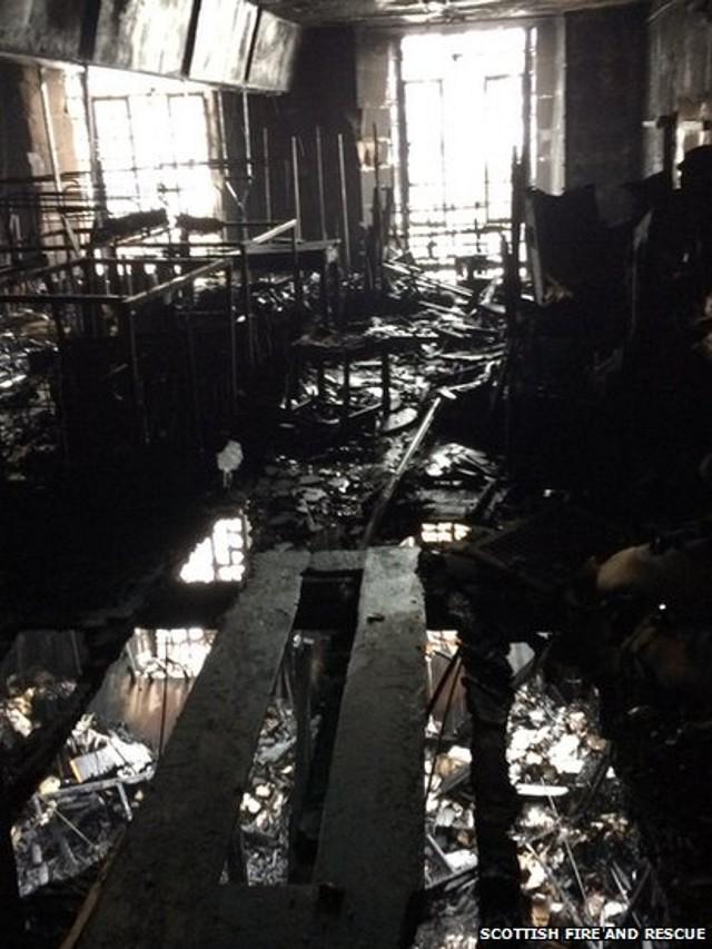 Biblioteca Mackintosh luego del incendio