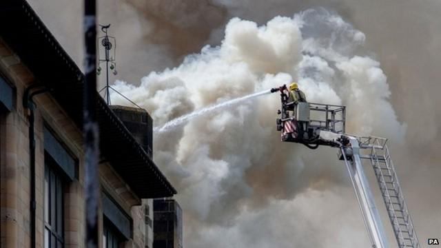 Incendio en la 'Glasgow School of Art' de Charles Rennie Mackintosh