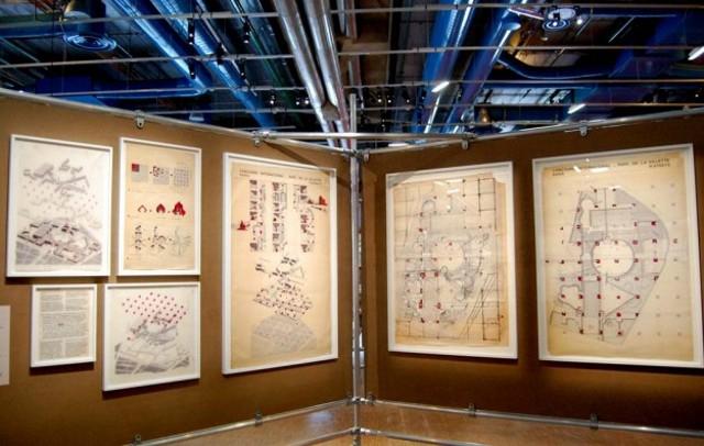 Imágenes de la exhibición Bernard Tschumi en el Centre Pompidou, París