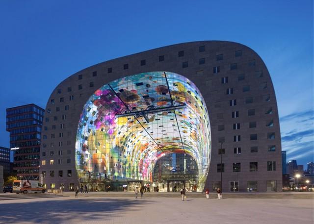 Holanda inauguraci n del 39 markthal rotterdam 39 mvrdv for Arquitectura holandesa