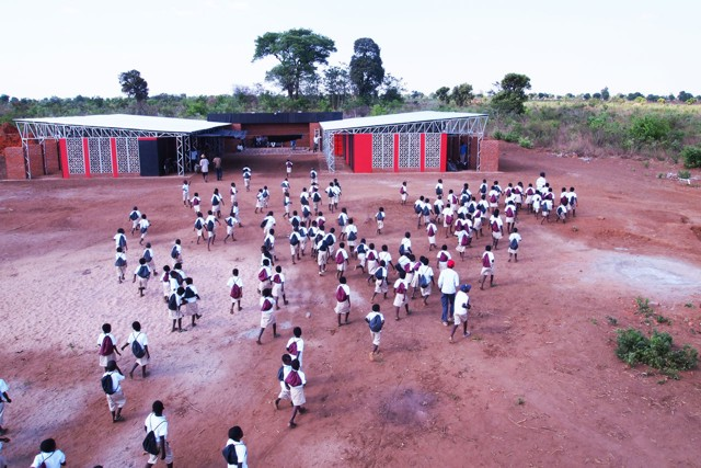 Escuela primaria en Malawi - Architecture for a change