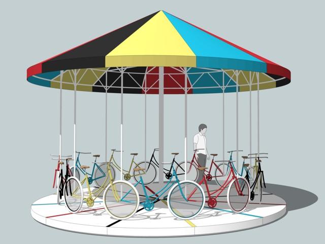Argentina: 'Carrousel', Parque Patricios, Buenos Aires - Gaspar Libedinsky