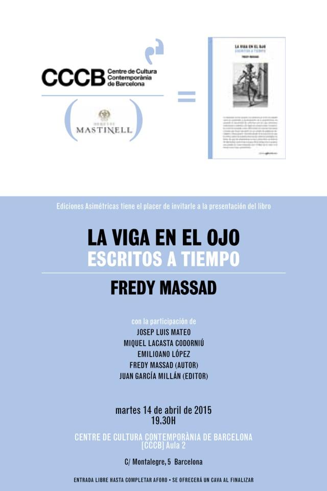 Espa a presentaci n del libro 39 la viga en el ojo for Fredy massad