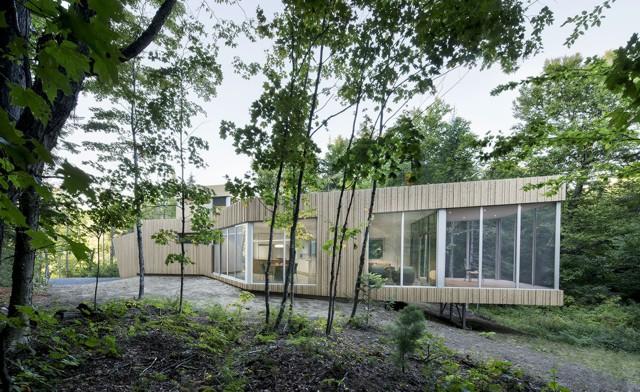 Canadá: Casa en Lac Grenier - Paul Bernier Architecte