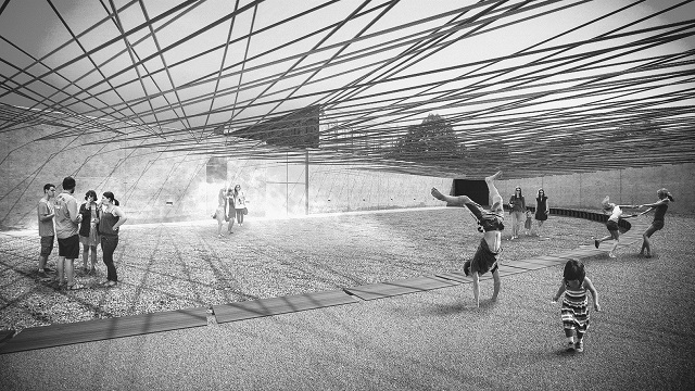 MoMA P.S.1,Young Architects Program 2016: 'Weaving the Courtyard' - Escobedo Soliz Studio
